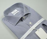 Slim fit blue striped ingram shirt in double twisted cotton
