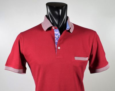 Red polo sail blue in scottish modern fit thread