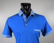 Modern fit Scottish cotton turquoise vela blu polo shirt
