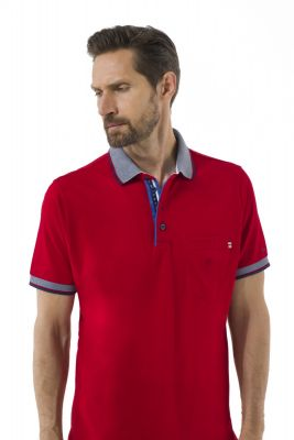 Modern fit green coast polo shirt with scottish cotton pocket