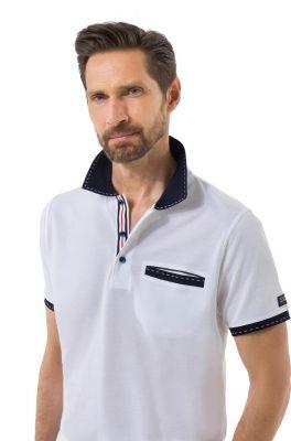 Regular fit green coast polo shirt in Scottish cotton