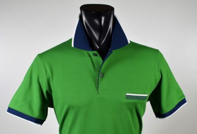 Modern fit green Scottish cotton ingram polo shirt