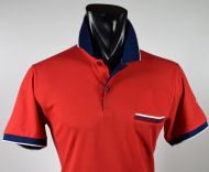 Modern fit red scottish thread cotton ingram polo shirt
