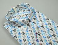 Camicia in cotone stampato ingram collo button down regular fit