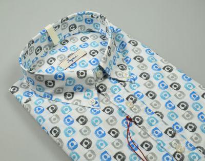 Ingram printed cotton shirt button down regular fit neck
