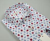 Ingram slim fit printed cotton shirt