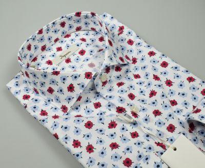Camicia ingram slim fit in cotone stampato