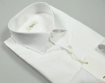 Camicia ingram bianca slim fit cotone popeline