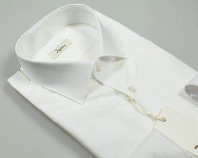 White ingram shirt slim fit cotton popeline