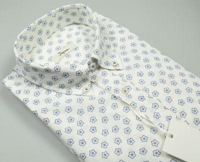 Ingram button down regular fit linen and cotton shirt