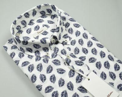 Ingram button down regular fit cotton and linen shirt