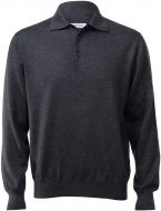 Polo gran sasso regular fit wool merinos grey anthracite