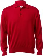 Polo gran sasso regular fit red merinos wool