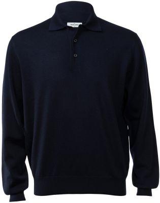 Polo gran sasso regular fit lana merinos blu navy