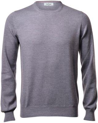 Girocollo gran sasso grigio slim fit lana merinos