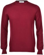 Gran sasso neck round bordeaux slim fit wool merinos