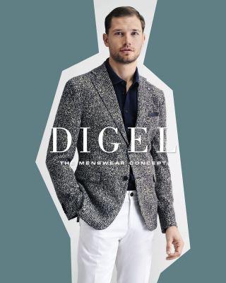 Slim fit cotton digel jacket unlined