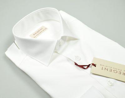 White shirt pancaldi in twill regular fit cotton