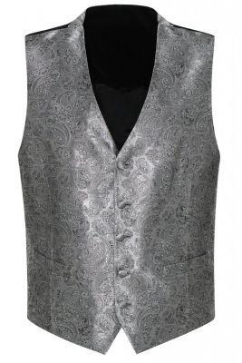Elegant grey tie ceremony waistcoat