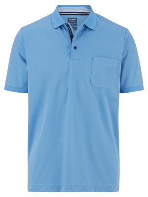 Polo celeste olymp in misto cotone jersey modern fit