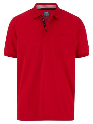 Polo rossa olymp in misto cotone jersey modern fit