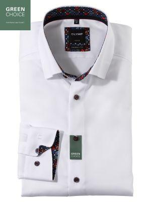 Camicia bianca olymp modern fit cotone organico