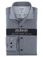 Camicia a righe blu olymp modern fit cotone jersey
