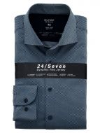 Camicia azzurra olymp in jersey slim fit