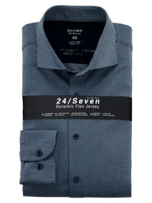 Blue olymp shirt in slim fit jersey