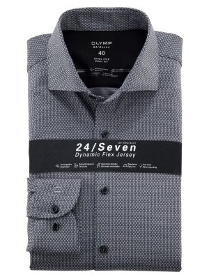 Camicia grigia olymp in jersey slim fit