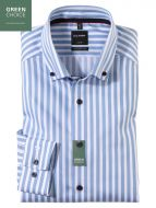 Camicia button down olymp modern fit a righe celeste