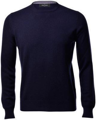 Maglione girocollo blu navy gran sasso puro cashmere