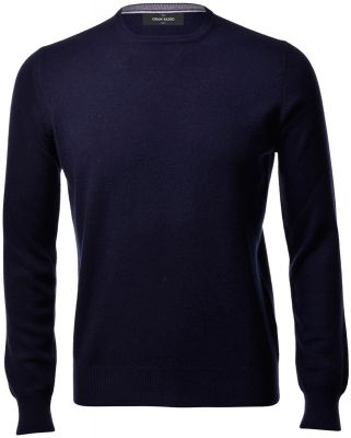Navy blue gran sasso gran sasso crew-neck sweater in cashmere