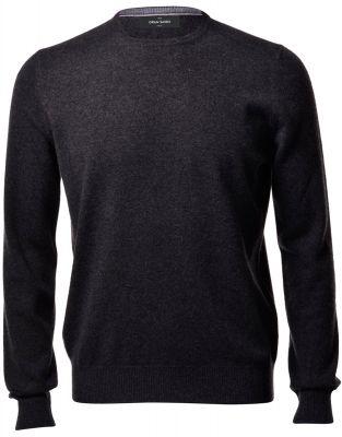 Maglione girocollo grigio antracite gran sasso puro cashmere