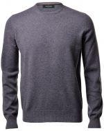 Maglione girocollo grigio gran sasso puro cashmere