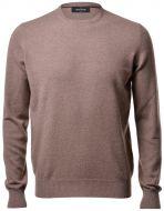 Crewneck sweater hazelnut gran sasso pure cashmere