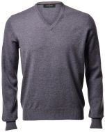 Sweater grey gran sasso pure cashmere