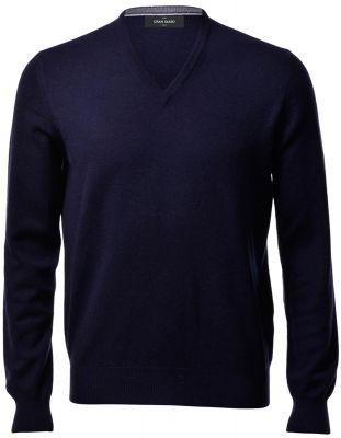 Pullover blu navy gran sasso in puro cashmere