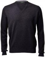 Pullover grigio antracite gran sasso in puro cashmere