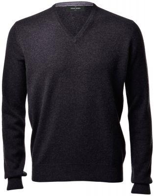 Anthracite grey sweater gran sasso in pure cashmere