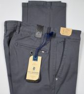 Trousers modern fit dark gray sea barrier cotton stretch operated