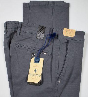 Pantalone modern fit grigio scuro sea barrier cotone stretch operato