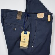 Blue sea barrier tricotin stretch regular fit trousers