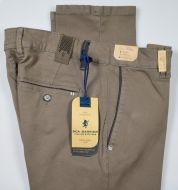 Taupe sea barrier gabardine stretch regular fit trousers