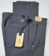 Dark gray sea barrier gabardine stretch regular fit trousers