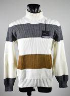 Striped turtleneck manuel garcia in wool blend