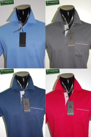 Bramante 4-color cotton polo