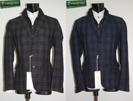 Wool jacket with slim fit screen John Barritt