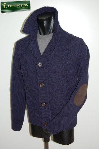 aefbb2858c Cardigan giacca moda in lana con toppe Bramante negozio online