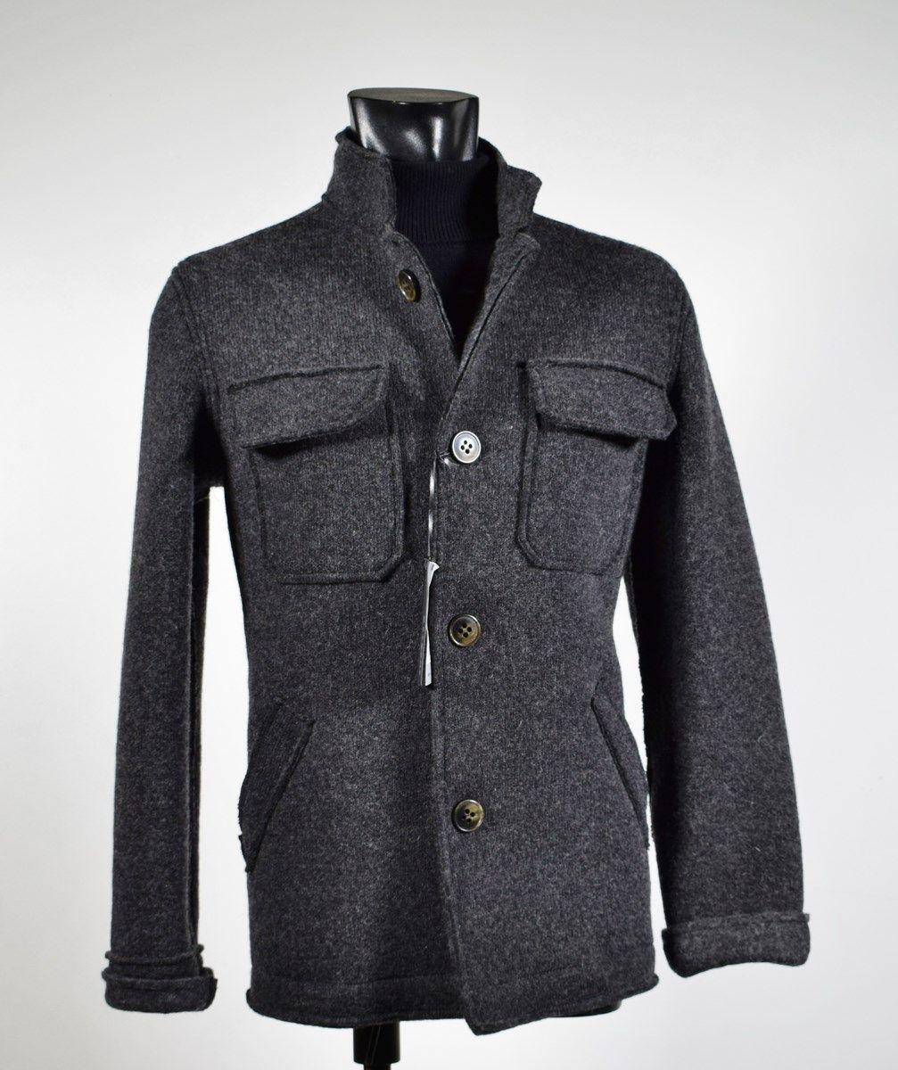 nuovo concetto 1b1a4 1b3d7 Giacca cardigan moda slim fit in lana cotta Become negozio ...